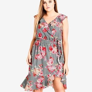 City Chic S/16 Rose Picnic Dress